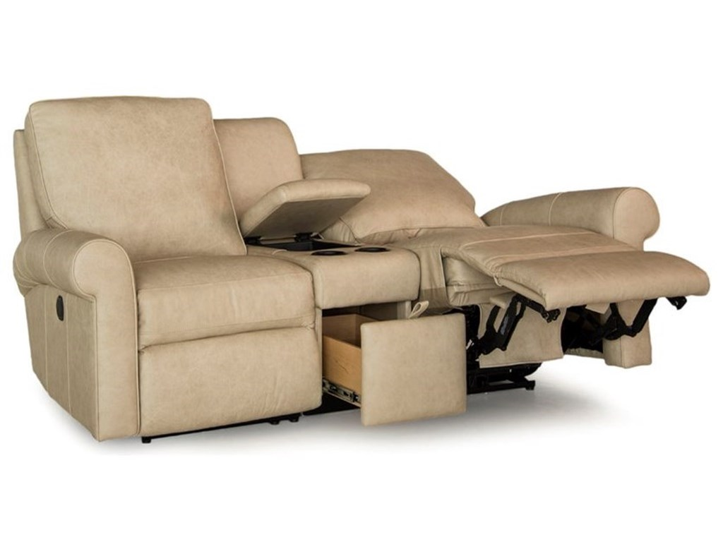 Smith Brothers 421Reclining Console Loveseat