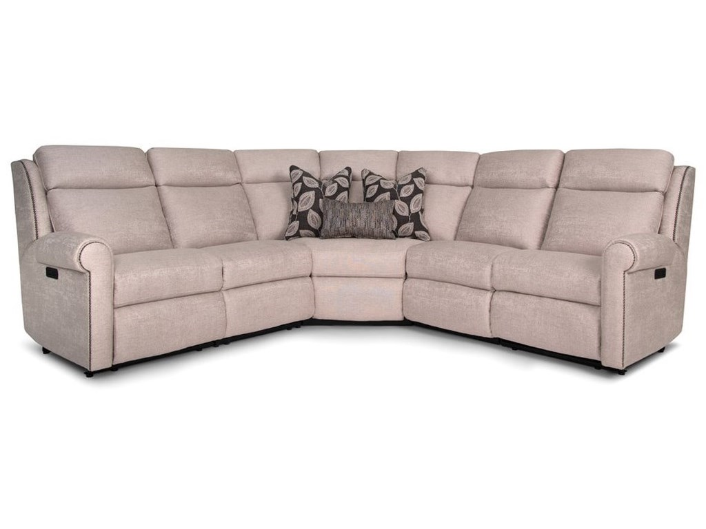 Smith Brothers 422Power Reclining Sectional