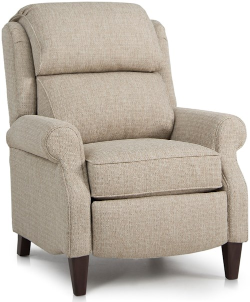 Smith Brothers 503 Traditional Pressback Reclining Chair with Rolled Arms