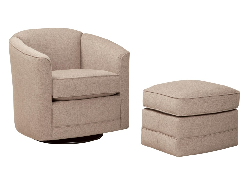 Smith Brothers 506Swivel Glider Chair and Ottoman Set