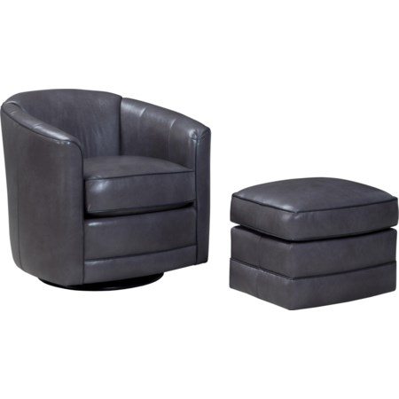 Swivel Glider Chair and Ottoman Set