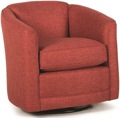 Smith Brothers 506 Swivel Chair with Barrel Back
