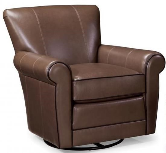 Casual Swivel Chair with Rolled Arms