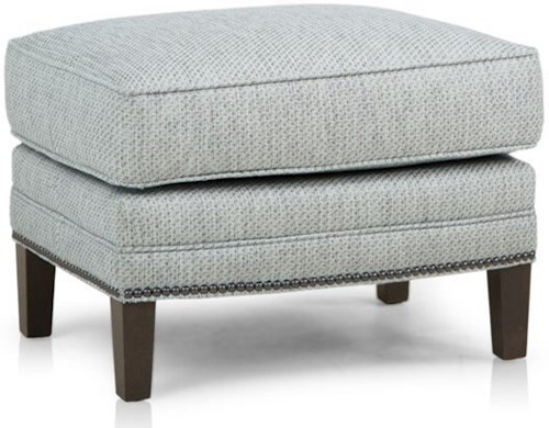 Smith Brothers 517 Casual Ottoman with Tapered Legs