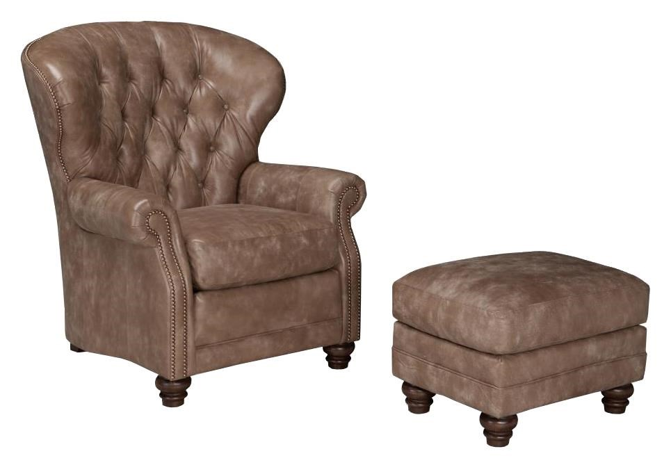 Smith Brothers 522Chair and Ottoman Set