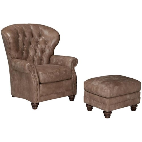 Smith Brothers 522 Chair and Ottoman Set