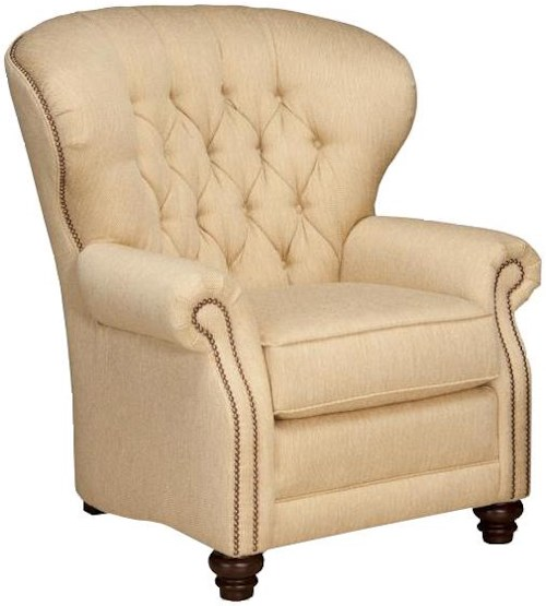 Smith Brothers 522 Motorized Reclining Chair Tufted Seat Back