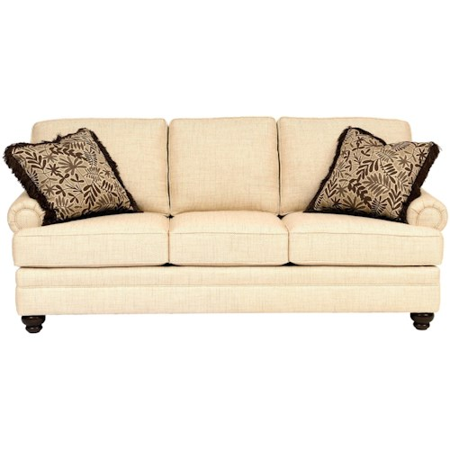 Smith Brothers 5221 Traditional Sofa with Rolled Panel Arms
