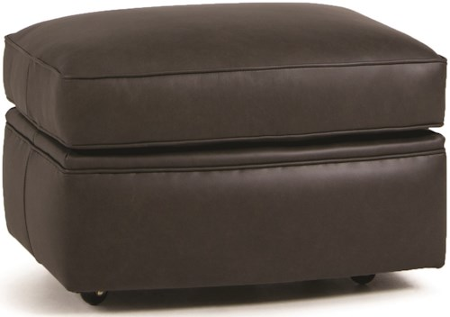 Smith Brothers 526 Casual Ottoman with Casters