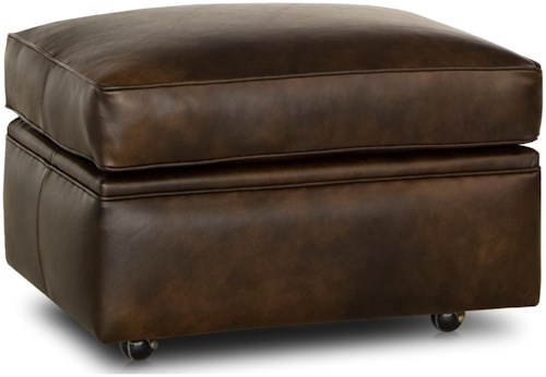 Smith Brothers 528 Traditional Ottoman with Casters
