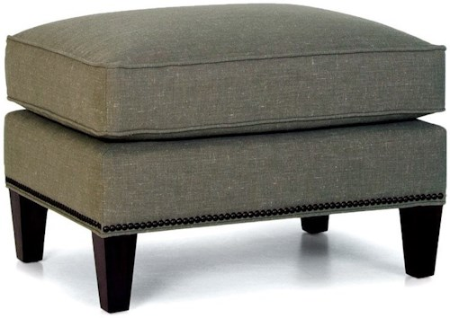 Smith Brothers 529 Casual Ottoman with Tapered Legs