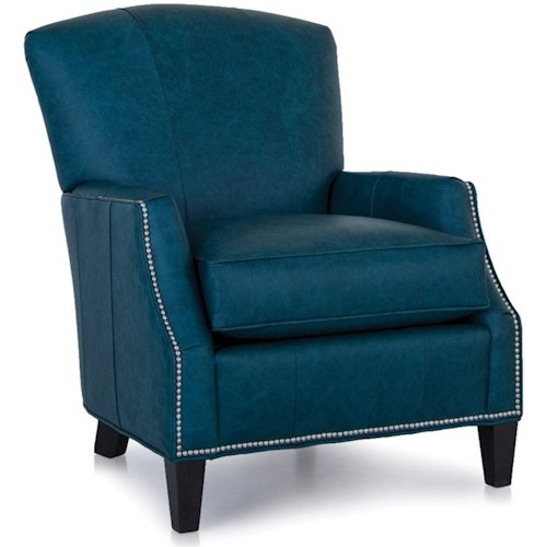 Smith Brothers 529 Casual Chair with Track Arms and Nailhead Trim