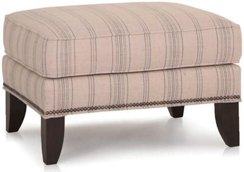 Smith Brothers 530 Ottoman with Nailhead Trim