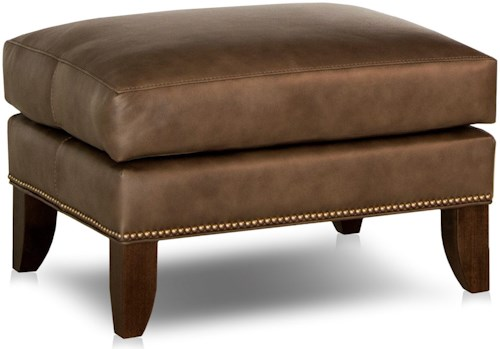 Smith Brothers 538 Traditional Ottoman with Tapered Legs