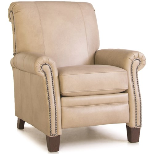 Smith Brothers 704 High Leg Pressback Recliner