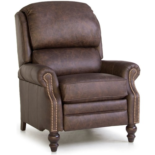 Smith Brothers 705L Pressback Reclining Chair with Rolled Arms