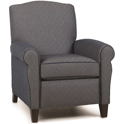 Smith Brothers 713 Casual Pressback Reclining Chair with Sock Arms