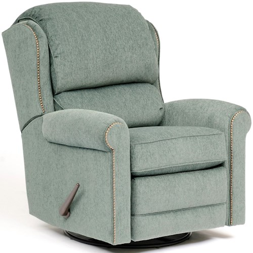 Smith Brothers 720 Casual Fabric Manual Reclining Chair