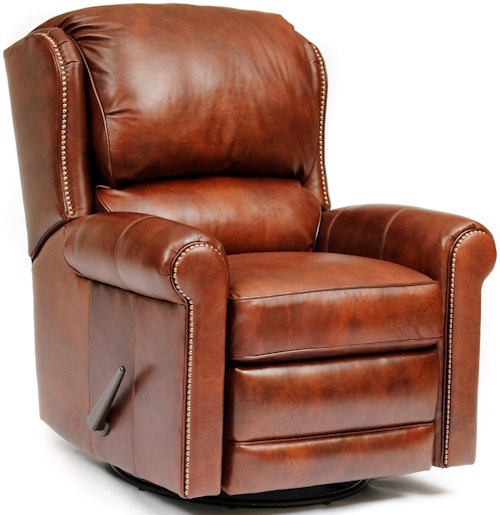 Smith Brothers 720L Casual Leather Manual Reclining Chair