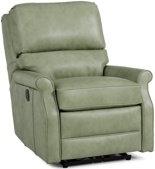 Smith Brothers 727 Casual Swivel Glider Recliner with Rolled Sock Arms