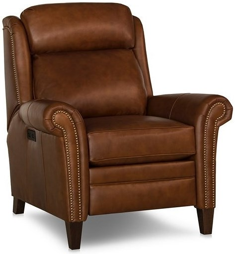 Smith Brothers 730 Traditional Motorized Recliner Chair with Adjustable Headrest