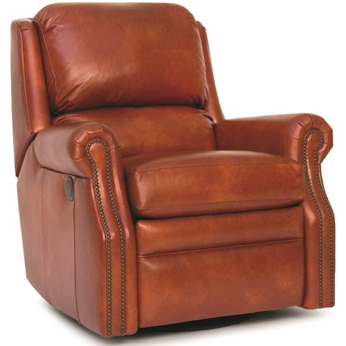 Smith Brothers 731 Traditional Motorized Reclining Chair with Nailhead Trim