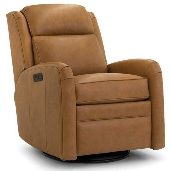 Casual Power Swivel Recliner with Power Headrest