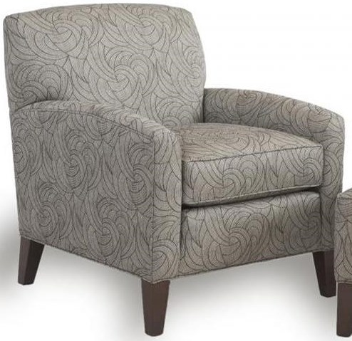 Smith Brothers 822 Casual Chair with Tapered Wood Legs