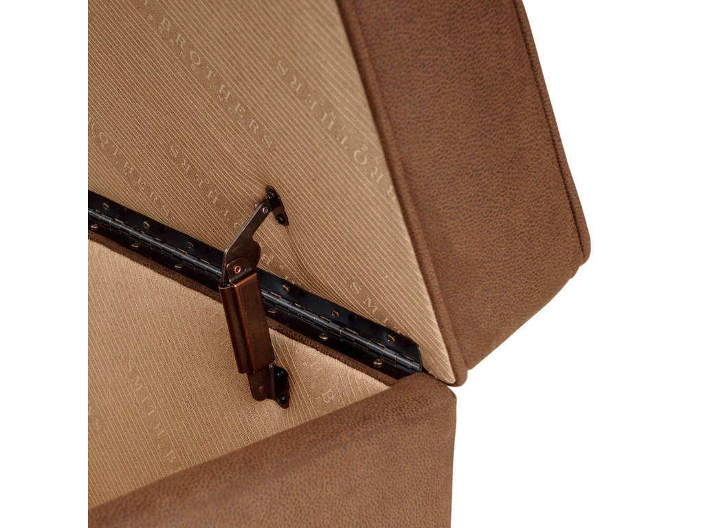 Sturdy hinges in storage ottoman