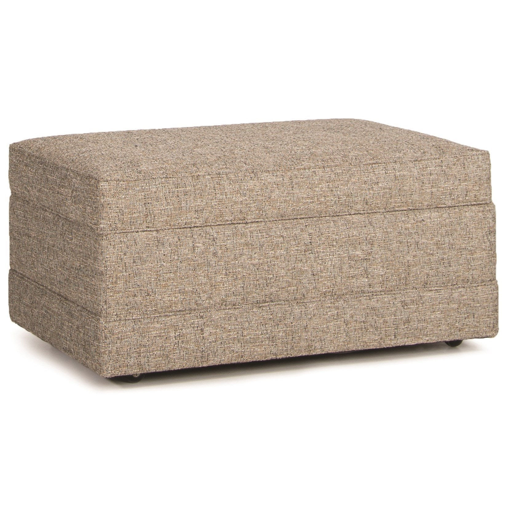 Smith Brothers 900 Storage Ottoman With Baseband And Hidden Casters