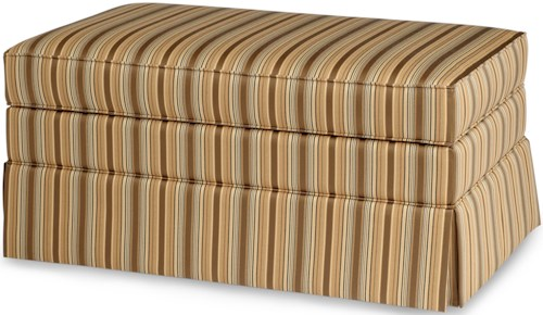 Smith Brothers 900 Ottomans Storage Ottoman with Skirt and Hidden Casters