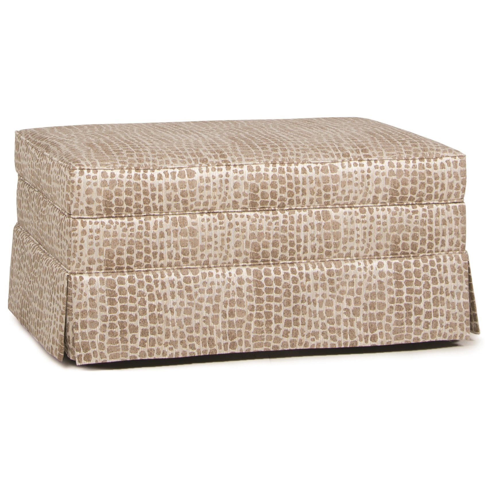 Storage Ottoman with Skirt and Hidden Casters