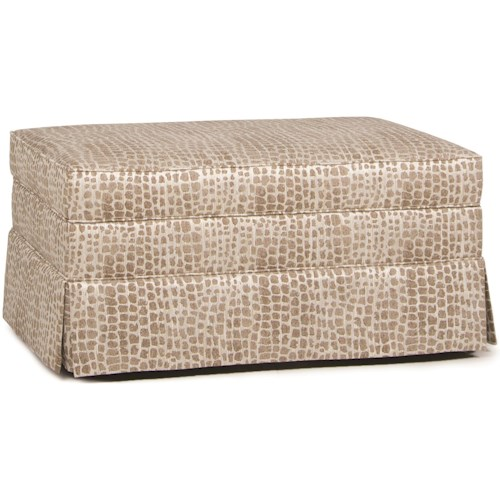 Smith Brothers 900 Storage Ottoman with Skirt and Hidden Casters