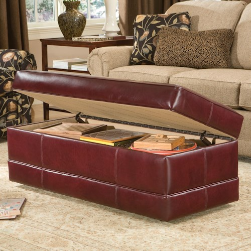 Smith Brothers 901 Rectangular Storage Ottoman with Baseband