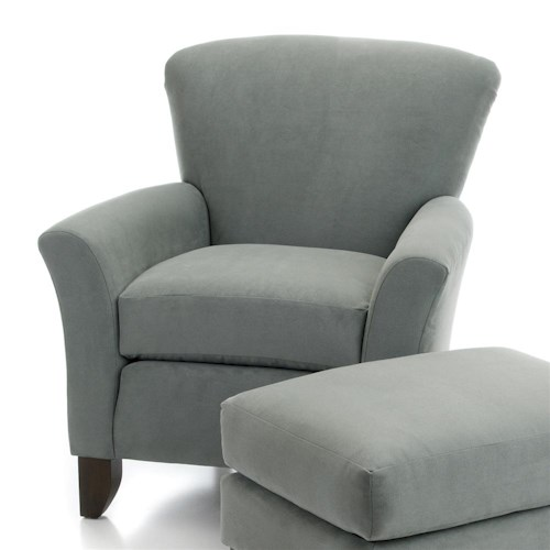 Smith Brothers 919 Upholstered Chair w/ Flared Arms