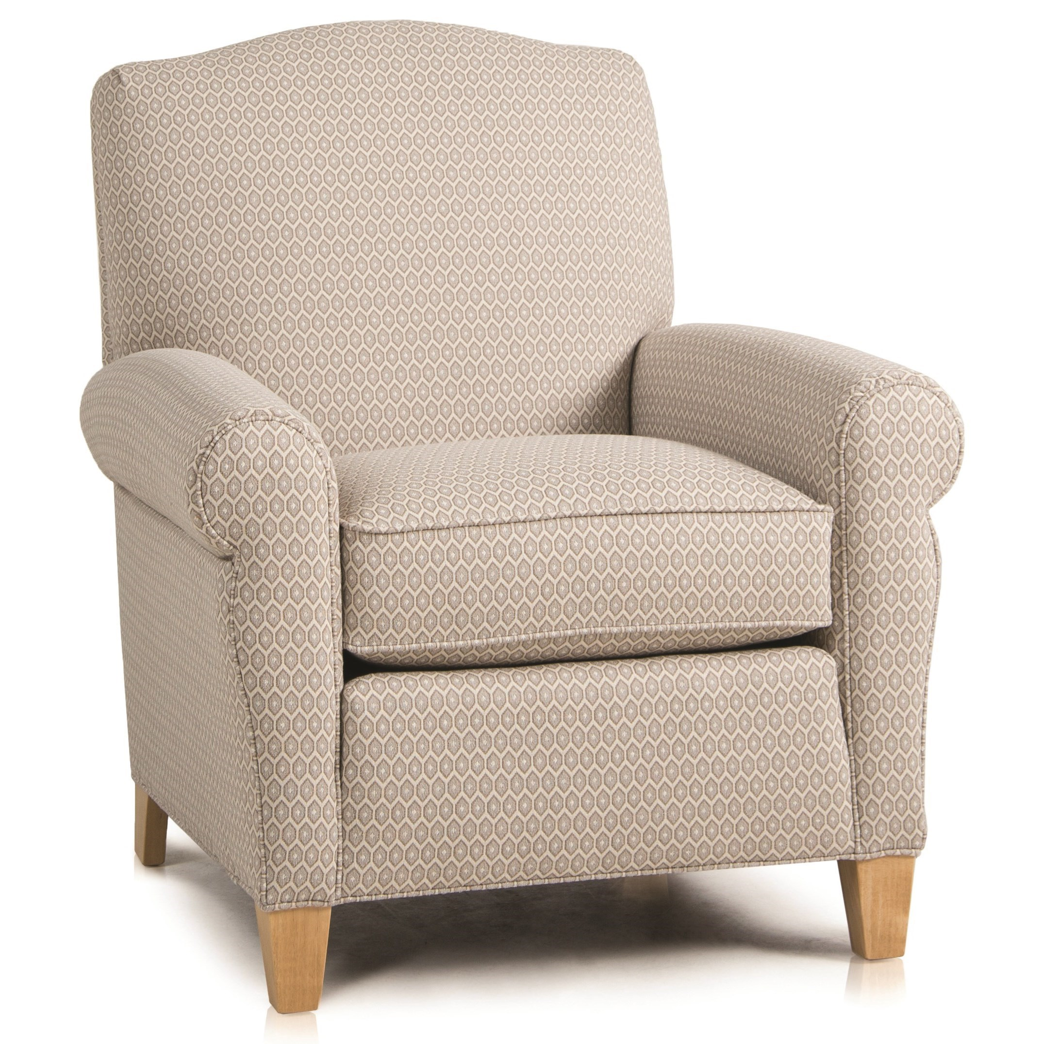Upholstered Chair w/ Rolled Arms