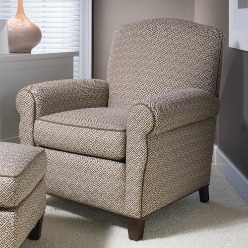 Smith Brothers 933 Upholstered Chair w/ Rolled Arms