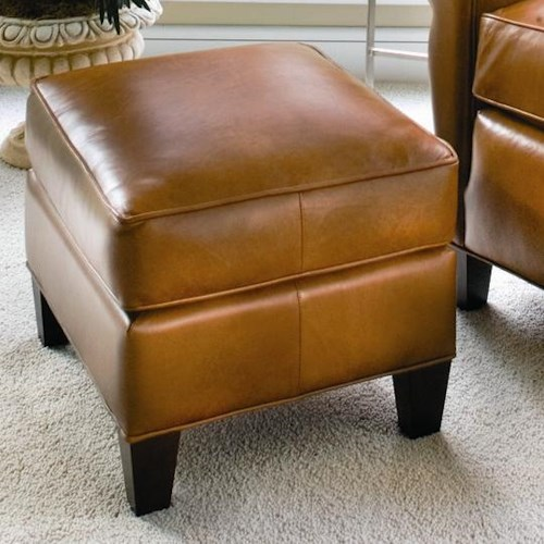 Smith Brothers 933 Upholstered Ottoman w/ Tapered Legs