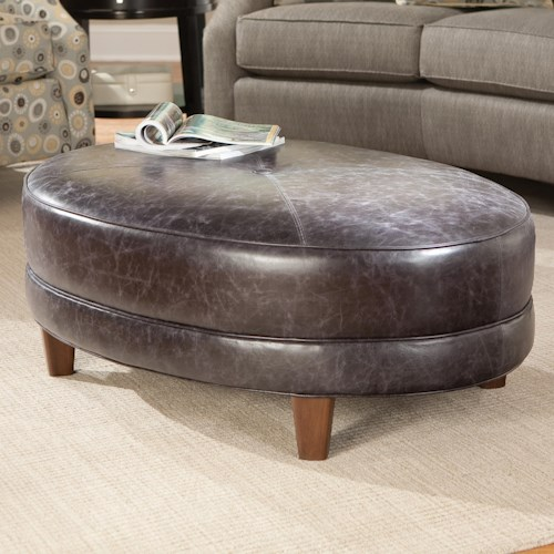 Smith Brothers 940 Oval Cocktail Ottoman