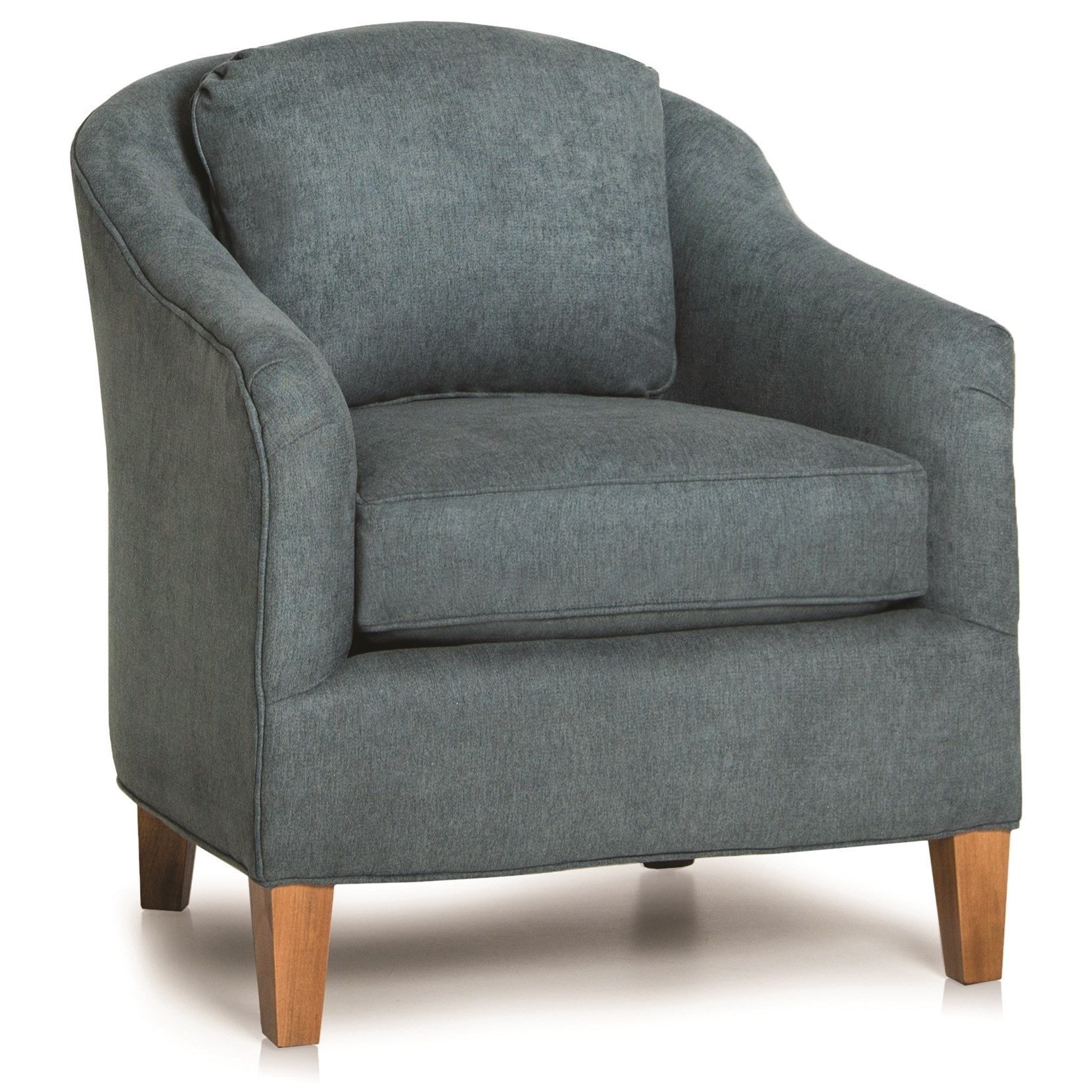 Contemporary Barrel Chair with Sloped Arms