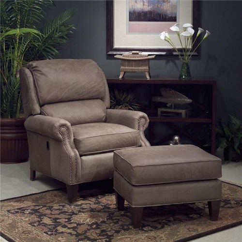 Smith Brothers 951 Tilt Back Chair & Ottoman