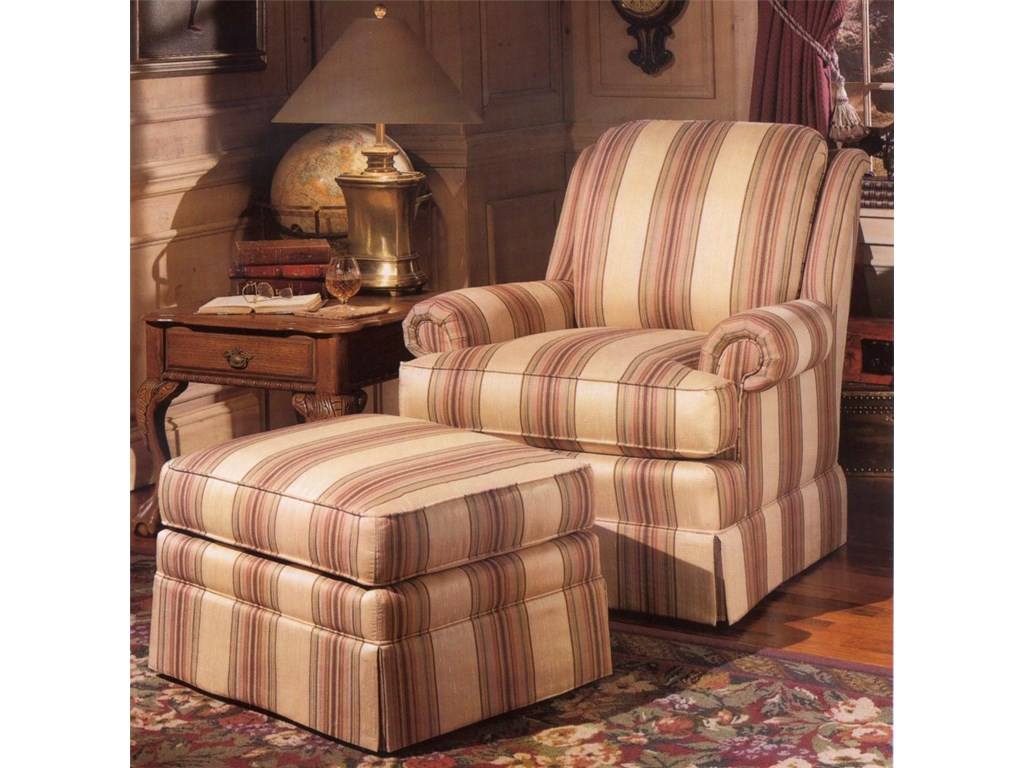 Smith Brothers 971Upholstered Chair & Ottoman