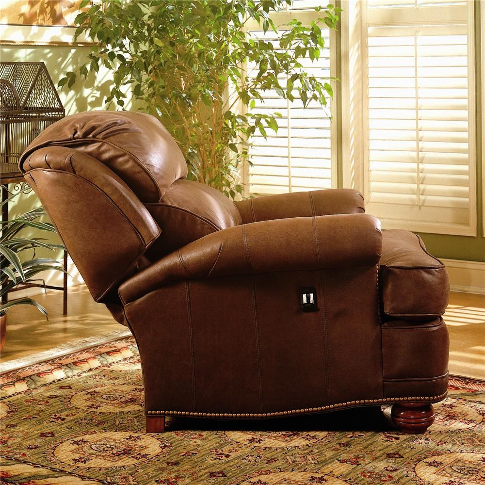 ... Smith Brothers 988Upholstered Tilt Back Recliner U0026 Ottoman ...