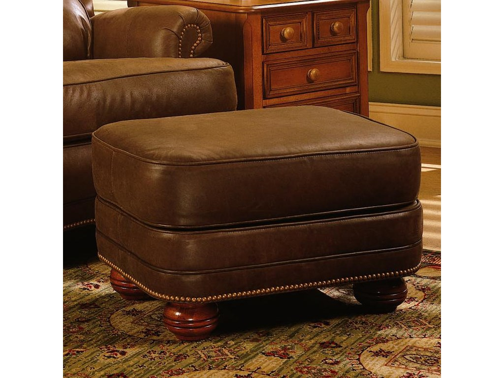 Smith Brothers 988Upholstered Tilt Back Recliner & Ottoman