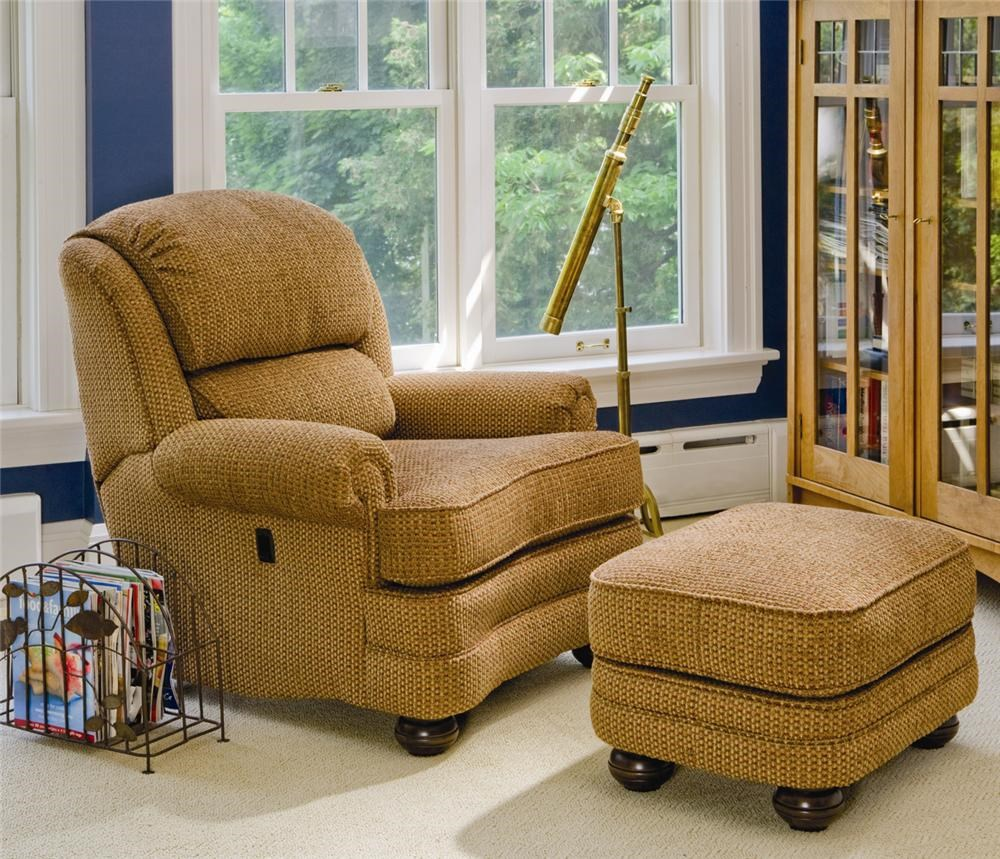 Smith Brothers 988 Upholstered Tilt Back Reclining Chair U0026 Ottoman |  Saugerties Furniture Mart | Reclining Chair U0026 Ottoman Sets