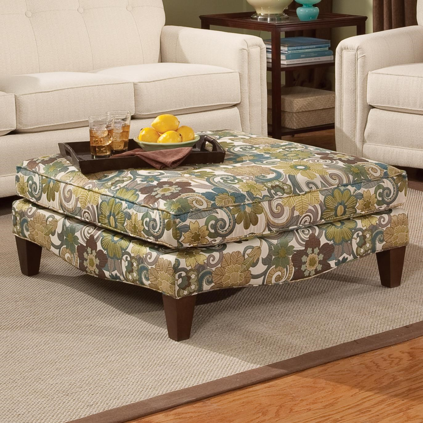 Smith Brothers Accent Chairs And Ottomans SBSquare Cocktail Ottoman ...