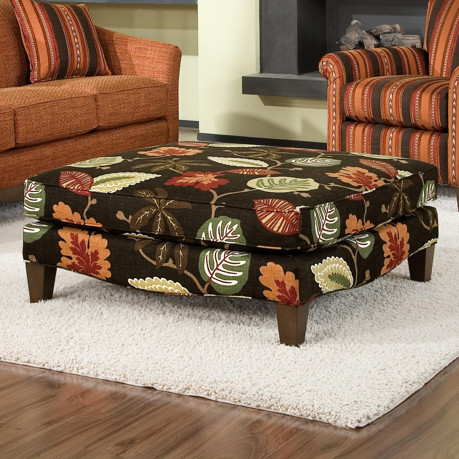 Smith Brothers Accent Chairs And Ottomans SB Contemporary Cocktail Ottoman