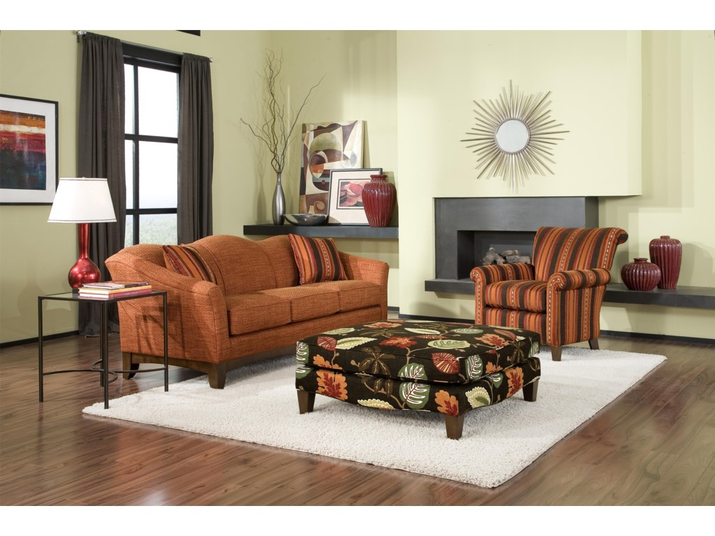 Smith Brothers Accent Chairs and Ottomans SBCocktail Ottoman