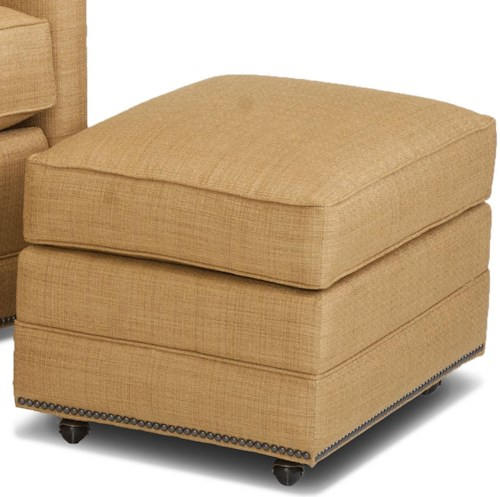 Smith Brothers Accent Chairs and Ottomans SB Transitional Ottoman with Casters