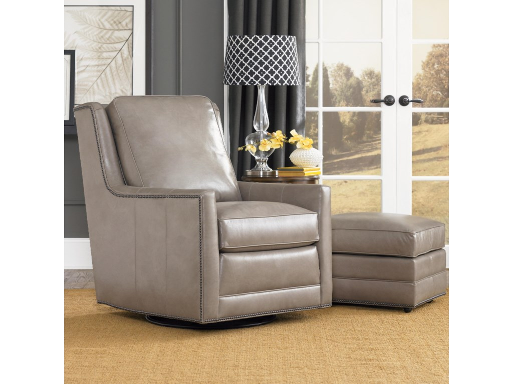 Smith Brothers Accent Chairs and Ottomans SBSwivel Chair and Ottoman Set